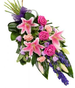 Pink and Purple Sheaf from Every Bloomin Thing Flowers Glasgow