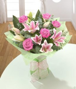 Rose and Lilly flowers from Every Bloomin Thing Flowers Glasgow