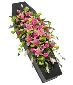 Rose and Lilly Coffin Spray from Every Bloomin Thing Flowers Glasgow