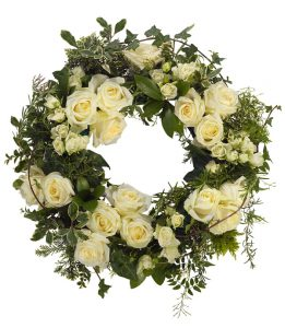 White Wreath from Every Bloomin Thing Flowers Glasgow